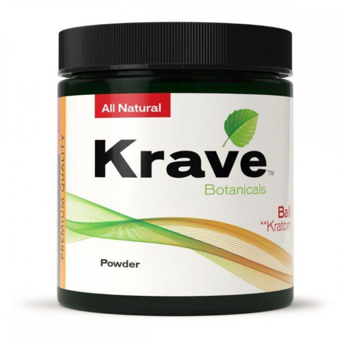 Krave Bali Kratom Powder 60 gram container