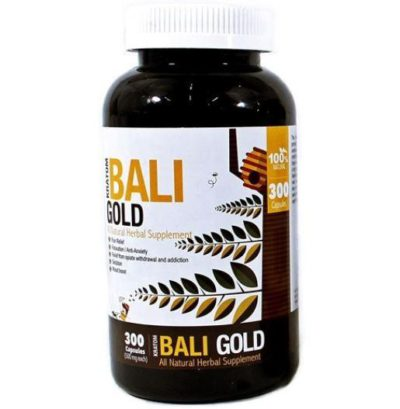 Bumble Bee Bali Gold Kratom Capsules 300 Count Bottle