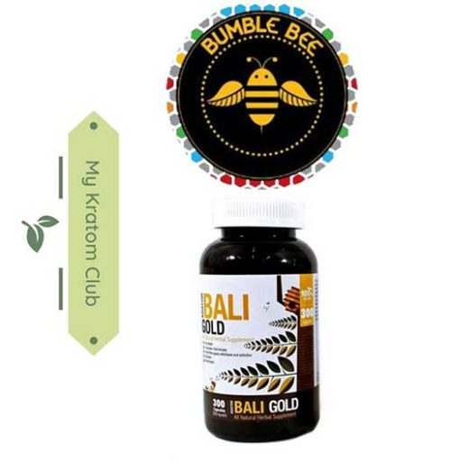 Bumble Bee Bali Gold Kratom Capsules brought to you by My Kratom Club