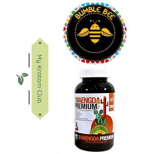 Bumble Bee Maeng Da Kratom Capsules 300 count brought to you by My Kratom Club