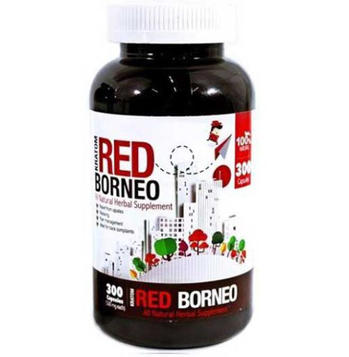 Bumble Bee Red Borneo Kratom Capsules 300 Count Bottle