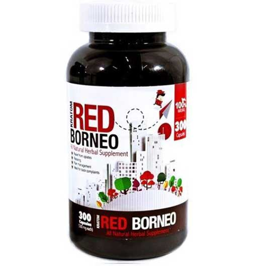 Bumble Bee Red Borneo Kratom Capsules 300 Count Bottle front