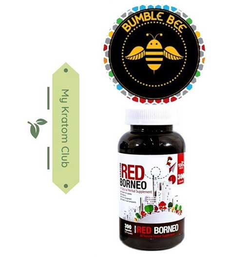 Bumble Bee Red Borneo Kratom Capsules brought to you by My Kratom Club