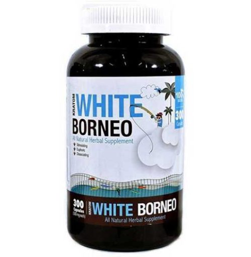 Bumble Bee White Borneo Kratom Capsules 300 count front