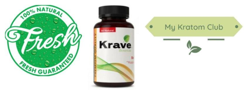 Krave Bali Capsules guaranteed fresh by My Kratom Club
