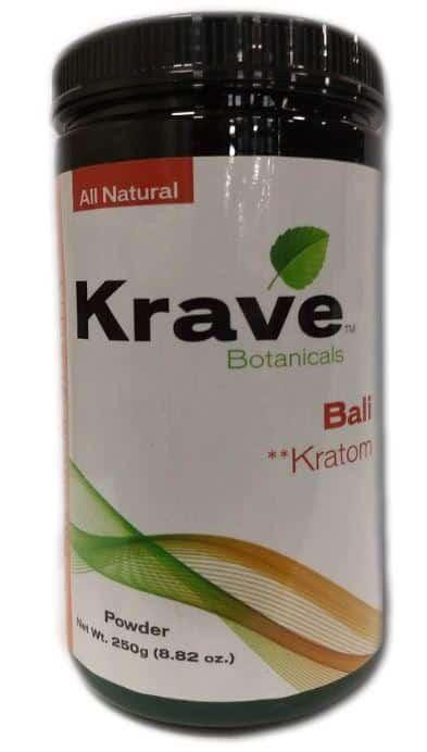 Krave Bali Kratom Powder 250 grams front