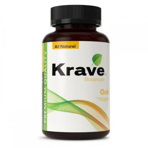 Krave Kratom Gold Capsules Bottle
