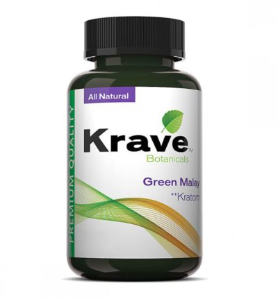 Krave Kratom Green Malay Bottle