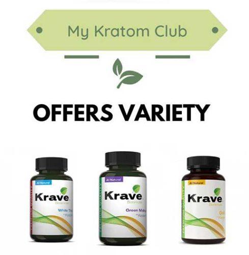 Krave Kratom Variety offered by My Kratom Club
