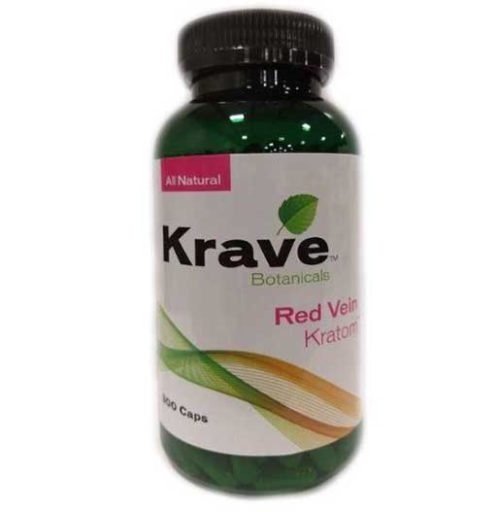 Krave Red Vein Capsules bottle 300 count front