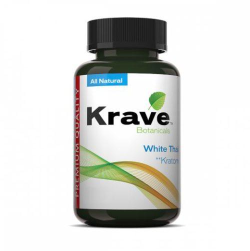 Krave Kratom 300 Count White Thai Bottle