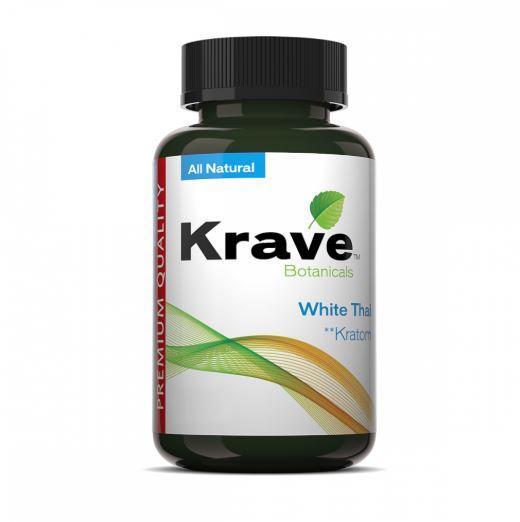 Krave Kratom White Thai 300 count Bottle