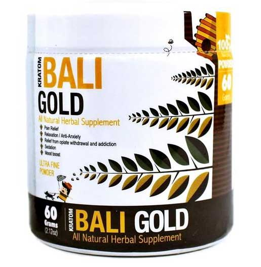 Bumble Bee Bali Gold Kratom Powder 60G Container front