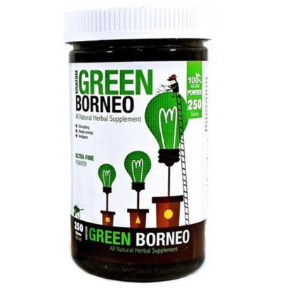 Bumble Bee Green Borneo Kratom Powder front of container