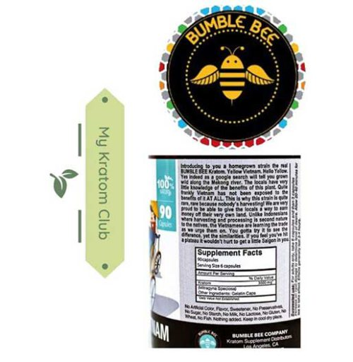 Bumble Bee Hello Vietnam Capsules 90 count back of bottle
