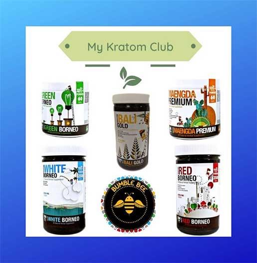 Bumble Bee Kratom Powder (Red Borneo, Green Borneo, Maengda Premium, White Borneo, Bali Gold)