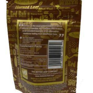 Bumble Bee Premium Bali Kratom Capsules 35 CT back of package.