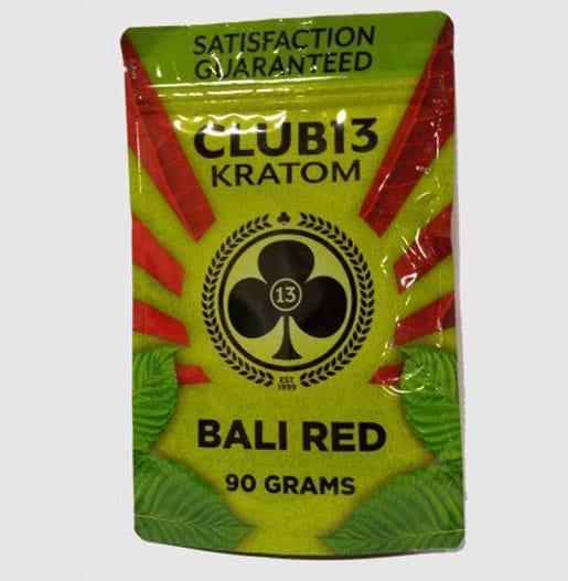 Club 13 Bali Red Kratom Powder 90 gram pouch by My Kratom Club