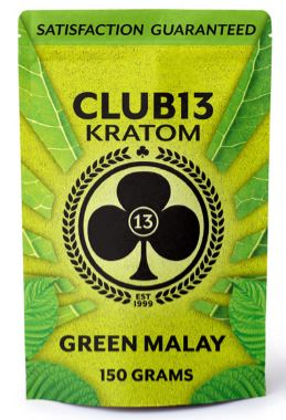 Club 13 Green Malay Kratom Powder 150G
