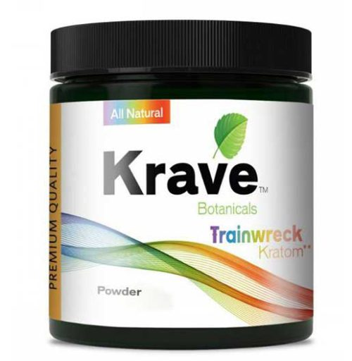 Krave Trainwreck Kratom Powder 60G Container