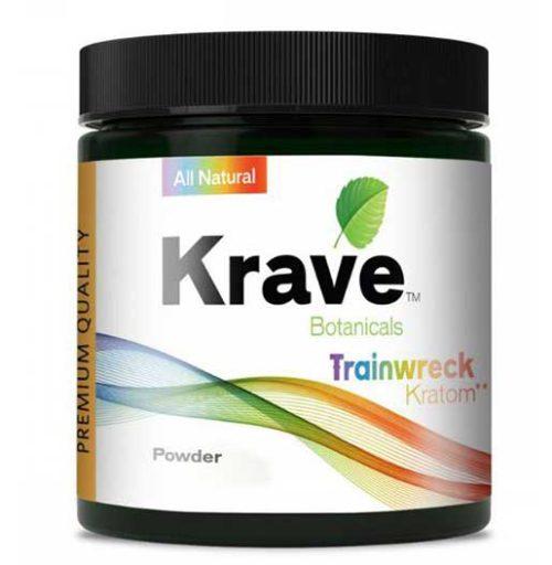 Krave Trainwreck Kratom Powder 60G Container