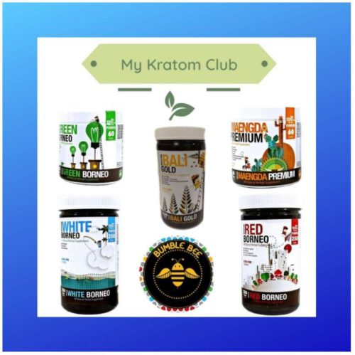 Multiple Bumble Bee Kratom Powders sold by My Kratom Club