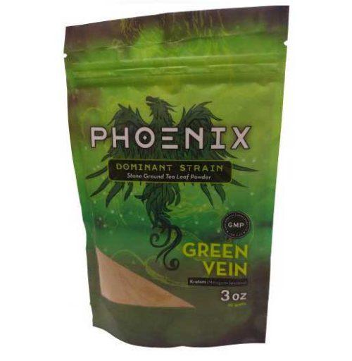 Phoenix Green Vein Kratom 3 oz bag front