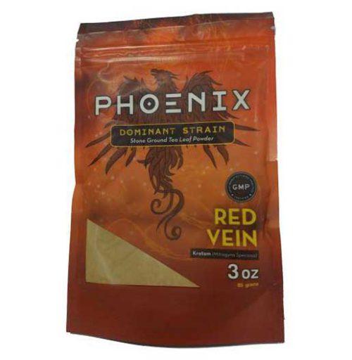 Phoenix Red Vein Kratom Powder 3 oz bag