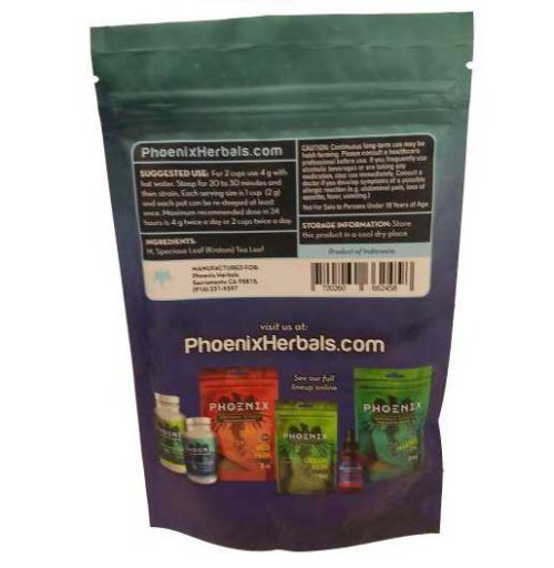 Phoenix White Vein Kratom Powder 3 oz back