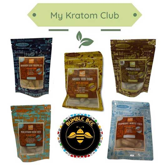 Bumble Bee Kratom Club 35 Count Pouches brought to you by MY Kratom Club