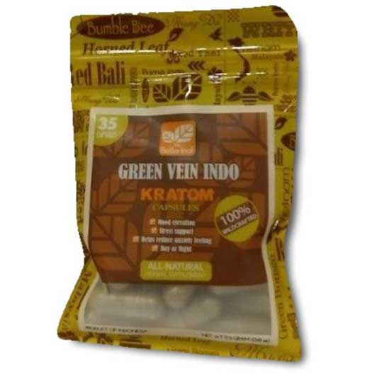 Bumble Bee Green Vein Indo Capsules 35 Count front