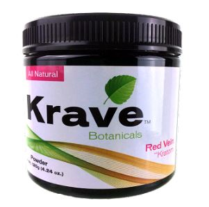 Krave Red Vein Kratom Powder 120 Grams