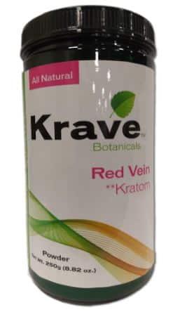 Krave Red Vein Kratom Powder 250G Snip