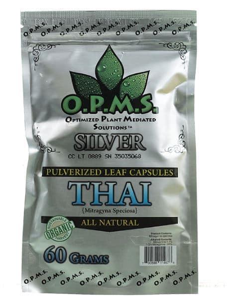 OPMS Silver Thai Kratom Capsules 120 Count