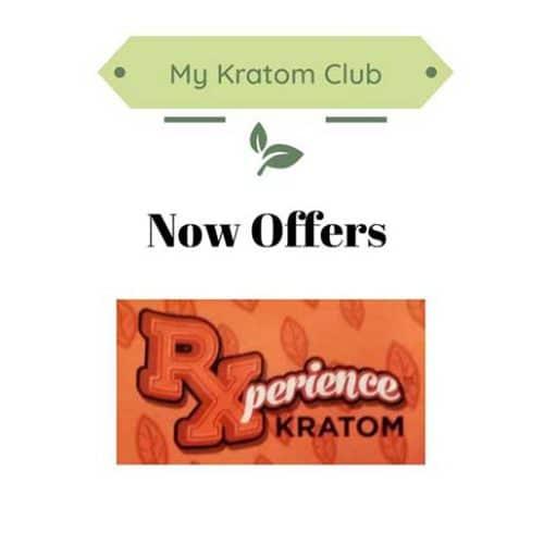 My Kratom Club now offering Rxperience Kratom