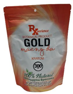 RXperience Gold Maeng Da Powder 300 Grams Front of Package