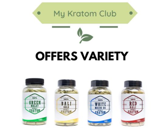 Naturally Kratom Capsules offered by My Kratom Club