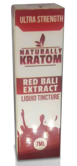 Naturally Kratom Red Bali Extract 7ML Front of package