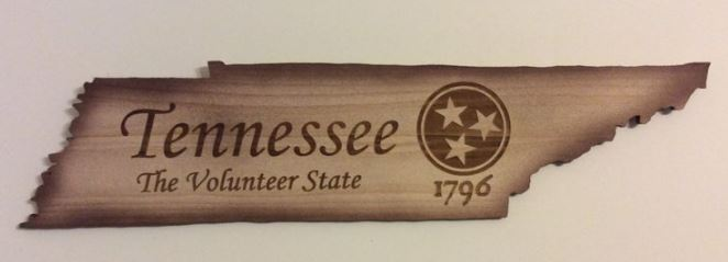 Tennessee, The Volunteer State Cutout