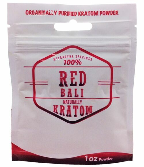 Naturally Red Bali Kratom Powder 1 oz Pouch