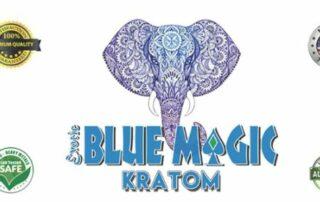 Blue Magic Kratom Elephant Logo