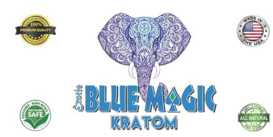 Blue Magic Kratom Elephant Logo