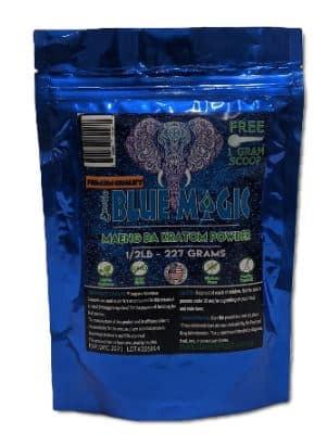 Blue Magic Maeng Da Kratom Powder half pound bag