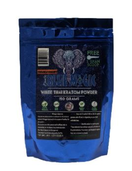 Blue Magic White Thai Kratom Powder 150 gram bag