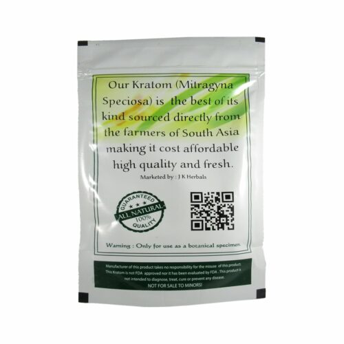 Metrix Maeng Da Kratom Powder 250g - Back