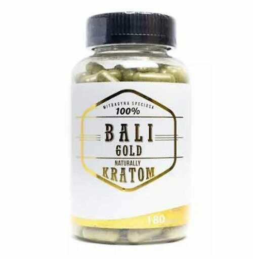 Naturally Bali Gold Kratom Capsules 180 count bottle offered by My Kratom Club