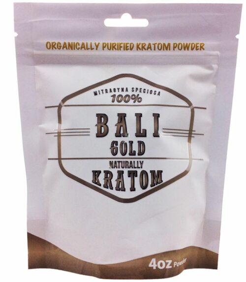 Naturally Bali Gold Kratom Powder 4 oz bag offered by My Kratom Club