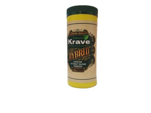 Krave Kratom Extract Hybrid Powder Front of Container