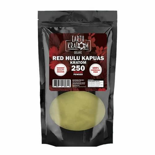 Earth-Kratom-Red-Hulu-Kratom-Powder-250g