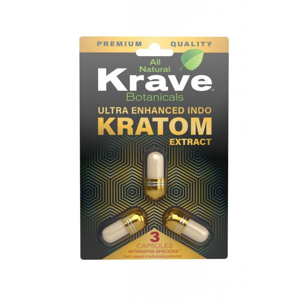 Krave Herbals Extract Capsules Ultra Enhanced Indo 3 count